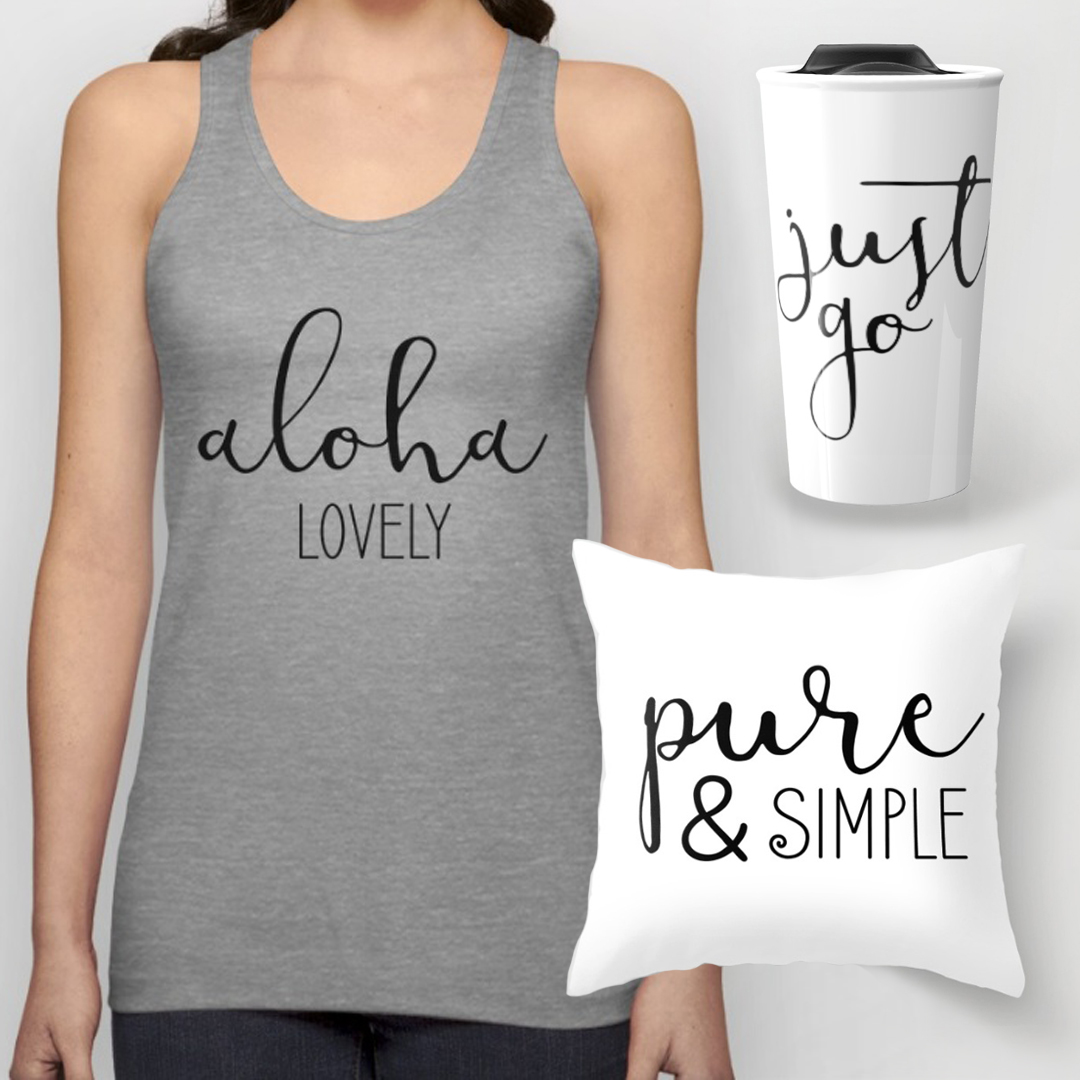 Featured items from the Aloha Lovely Shop