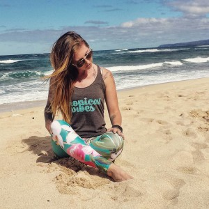 Tropical Vibes Tank and Aloha Leggings