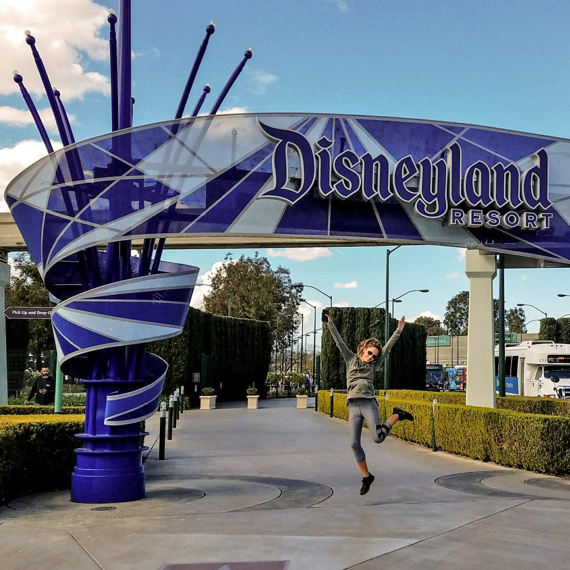Disneyland Sign Entrance Jump