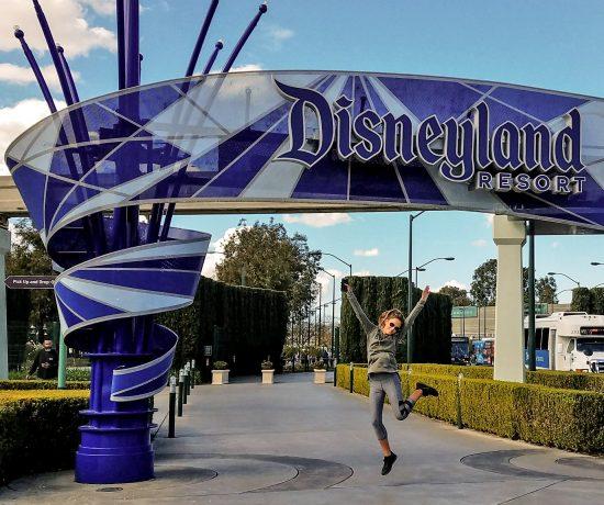 Disneyland Sign Entrance Jump