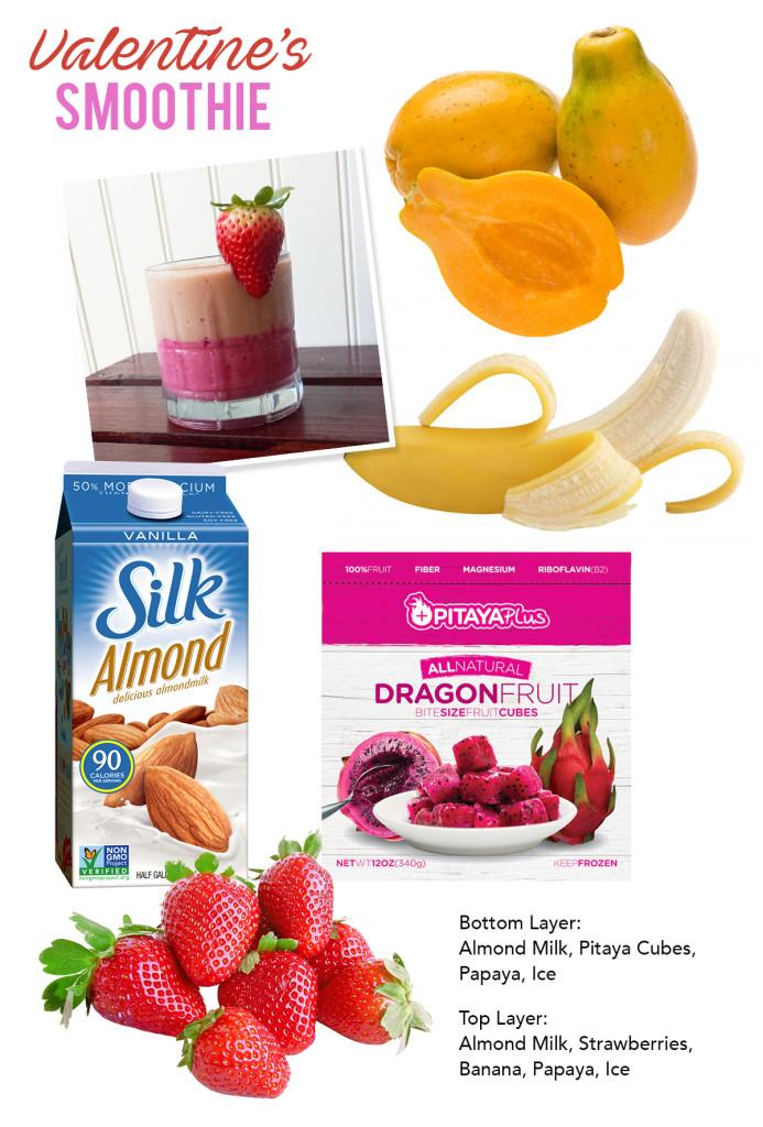Valentine's Smoothie Ingredients