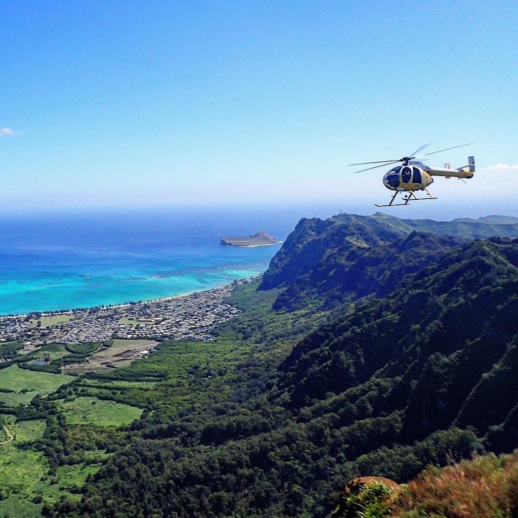 Kuliouou Ridge Trail Summit Helicopter