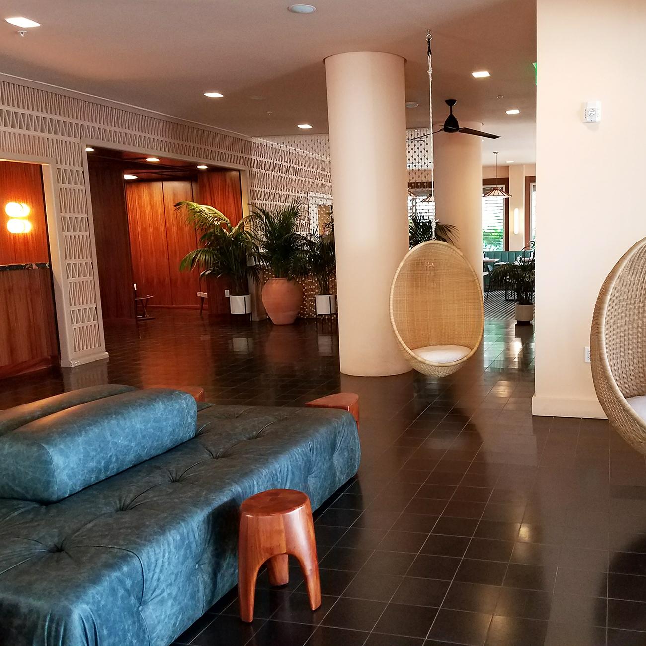 Laylow Waikiki lobby check in area
