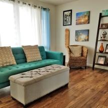 Beachy Post Modern: Living Room Tour