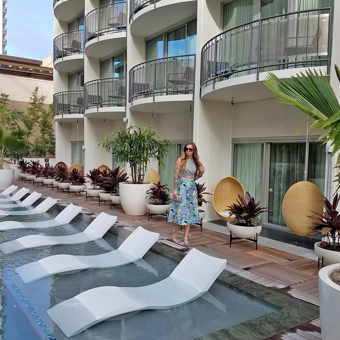 Laylow Waikiki Pool Loungers