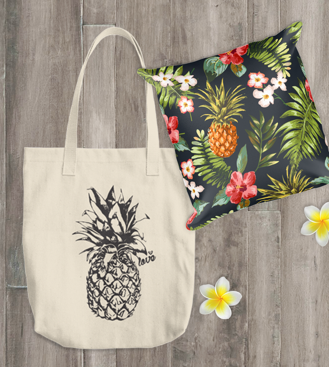 Shop Aloha Lovely Pillow and Tote