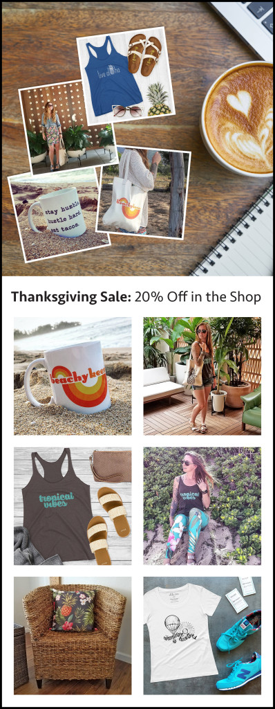 Thanksgiving Sale: 20% Off in the Shop