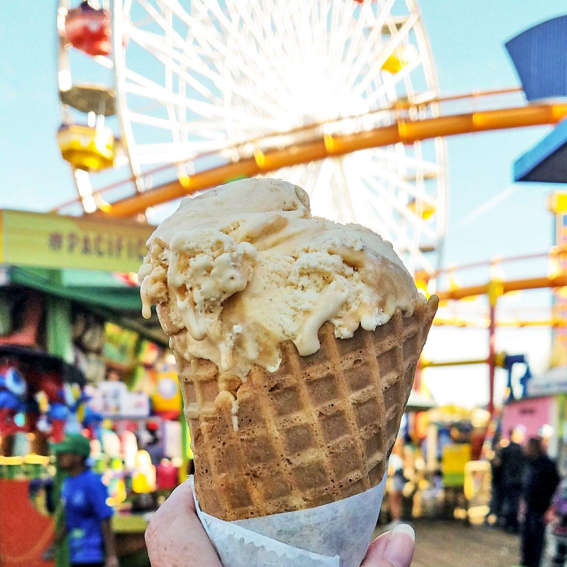 2 Days in LA Santa Monica Pier Ice Cream